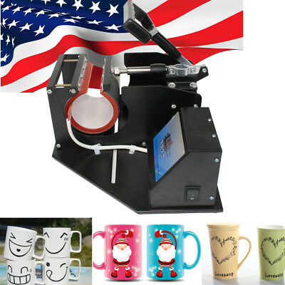 Heat Press Transfer Sublimation Machine Dual Digital For 8.3cm Cup Coffee Mug