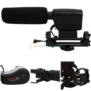 NA-Q7-Shotgun-DV-Stereo-Microphone-for-Canon-Kiss-X4-X5-Rebel-T2i-T3i-US-SELLER