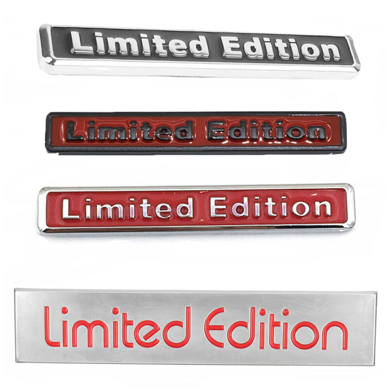 3D Red Limited Edition Car Logo Emblem Badge Metal Sticker Decal Universal 1pc
