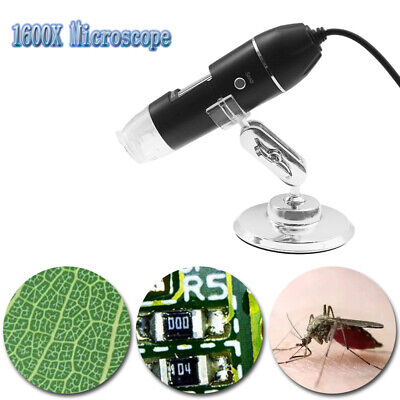 1600x 8led 2mp Usb Digital Microscope Endoscope Zoom Camera Magnifier Stand Hot