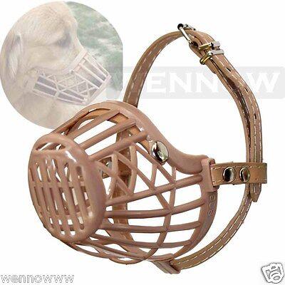 Large Pet Dog Adjustable Plastic Basket Protection Mask Mouth Cage