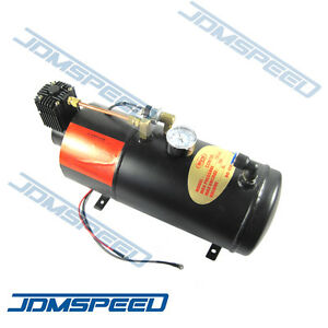 12V TRUCK PICKUP ON BOARD AIR HORN AIR COMPRESSOR WITH 3 LITER TANK 125PSI