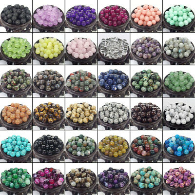 (Bulk Gemstones I natural spacer stone beads 4mm 6mm 8mm 10mm 12mm jewelry design)