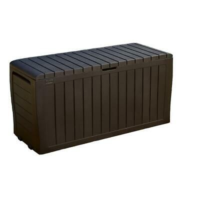 Marvel Plus  Resin Deck Box Color Brown | Patio Storage Pool