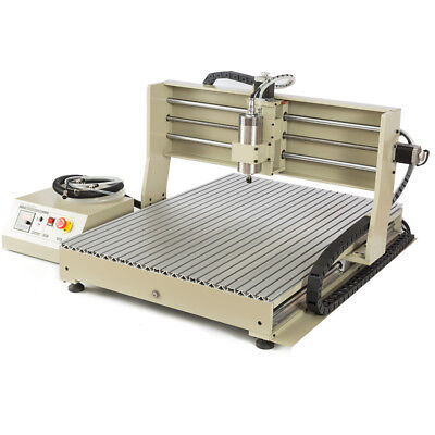 6090 4-axis Cnc Router Engraver Milling Drilling Usb Cutting Desktop 1.5kw Vfd