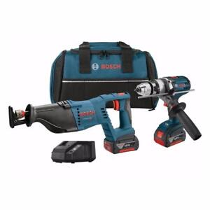 Bosch (CLPK203-181) 18V 2-Tool Kit with 1/2 Inch Brute Tough Hammer Drill/Driver and Reciprocating Saw (BRAND NEW) $369