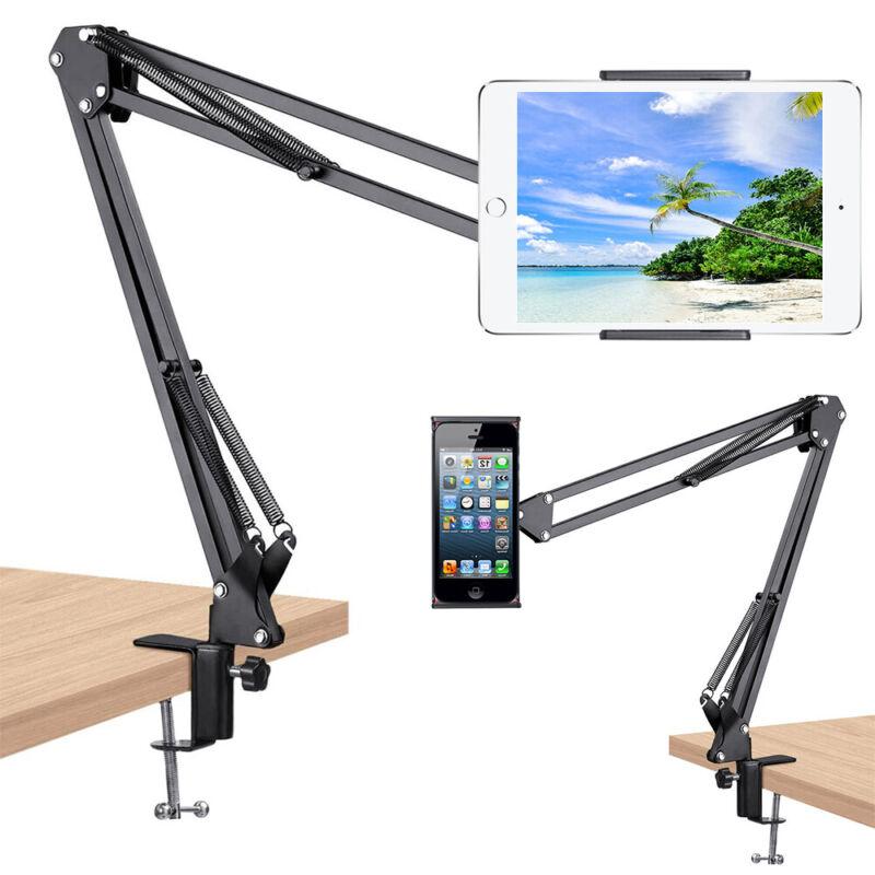"Universal Tablet Mount Lazy Holder Adjustable Long Arm Clamp 4-10"" iPad Phone"