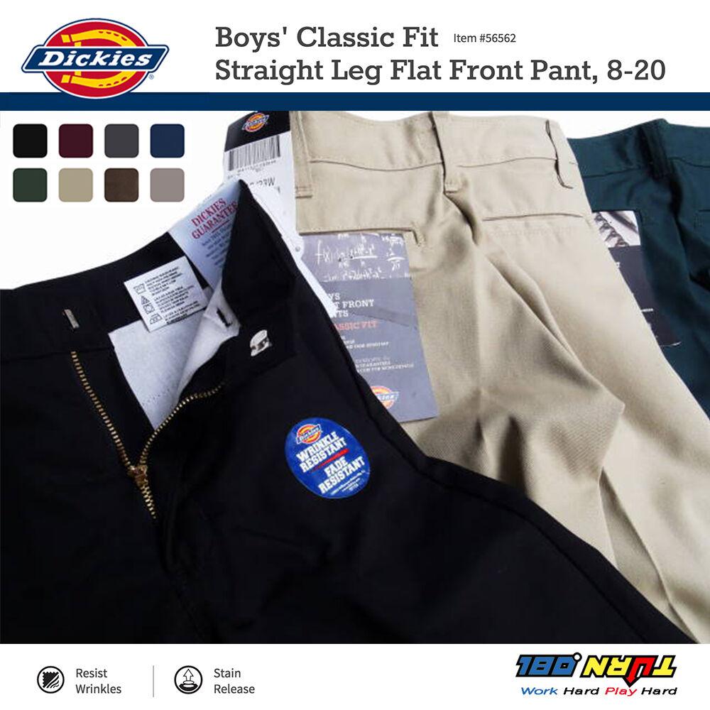 Dickies Boys Dress Pants 56562 Classic Fit Straight Leg Scho