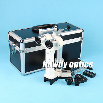 Portable Slit Lamp Hand Held Slit Lamp Microscope 4 Spots Aluminum Case