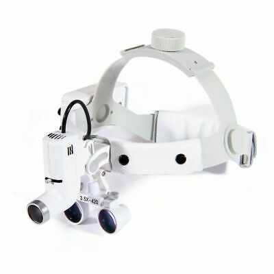 3.5x Magnification Medical Surgical Binocular Loupesled Headlight Rechargeable
