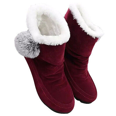 Fashion Women Ankle Boots Winter Shoes Warm Suede Flats Casual Shoes  USPS 2