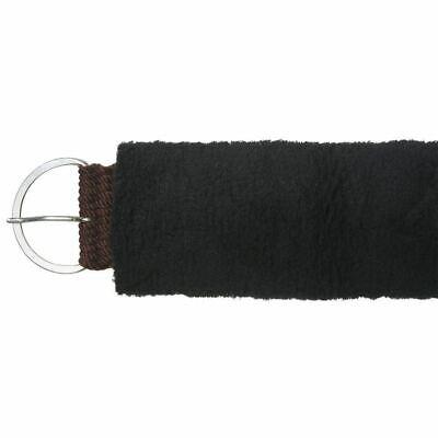 "Tough-1 Fleece Girth or Cinch Cover Synthetic Wool 5"" x 30"" Black"