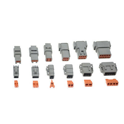 1set Deutsch Dtm 2346812pin Female Male Electrical Kit Wire Connector Plug