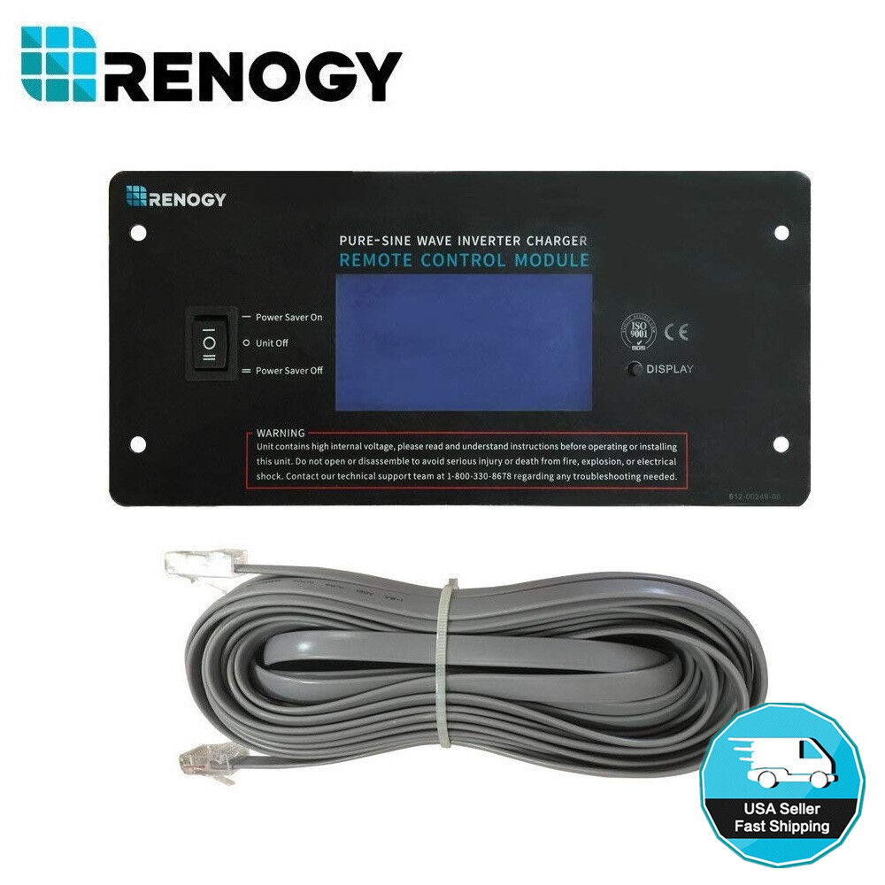 Renogy 500W 12V Off-Grid Pure-Sine Wave Battery Inverter w/
