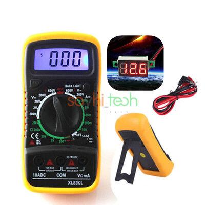Digital Lcd Display Xl830l Voltmeter Ammeter Multimeter Circuit Ohm Volt Tester