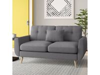 new 2 seater sofa grey