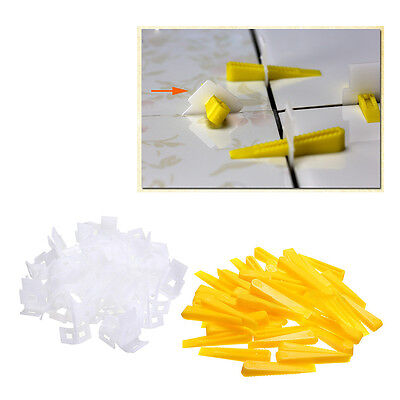 500*Clips + 200*Wedges - 700 Tile Leveling System - Leveler Spacers Lippage US