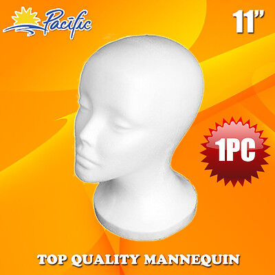 Halloween 11 Styrofoam Foam Mannequin Manikin Head Wig Display Hat Glasses