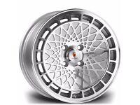 "4x 16"" Stuttgart ST7 Alloy Wheels 4x100 MX5 Civic Golf Lupo Polo E30 VW Caddy"