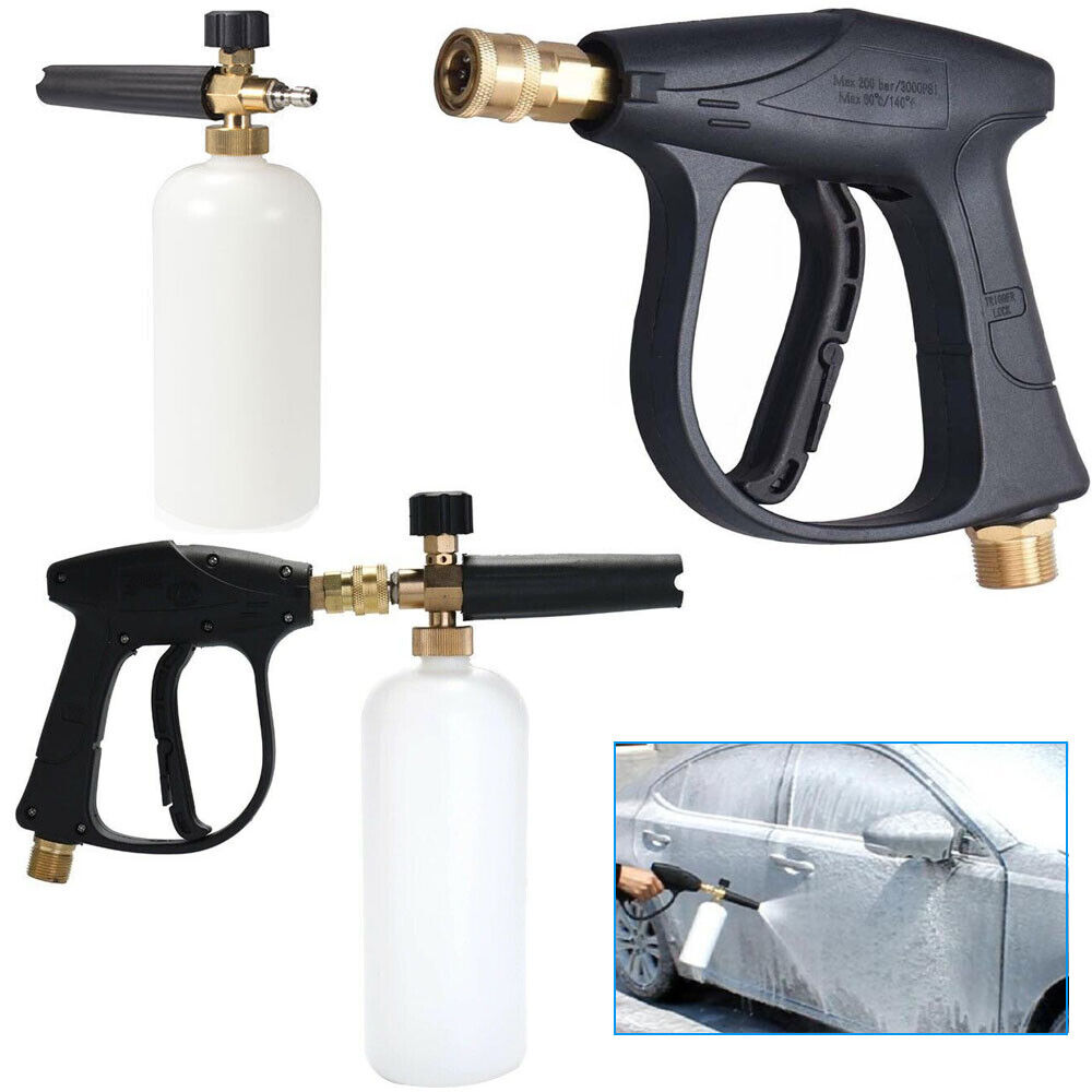 14 Snow Foam Washer Gun Car Wash Soap Lance Cannon Spray Pressure Jet Bottle