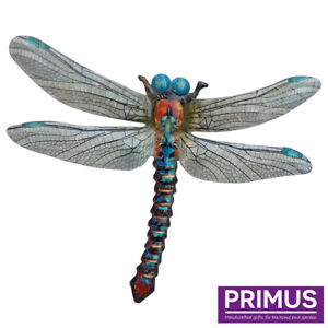 Primus Large Blue Metal Dragonfly Truly Stunning Garden Wall Ornament PA1850