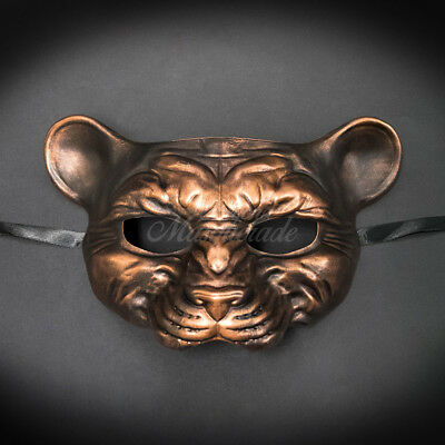 Masquerade Mask New Rusty Copper Cougar Halloween Props Animal Costume Unisex (Cougar Halloween)