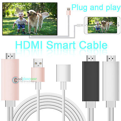 8 Pin Lightning To HDMI /HDTV Cable AV Adapter Digital For iPhone 6S 7 XS/8 Plus
