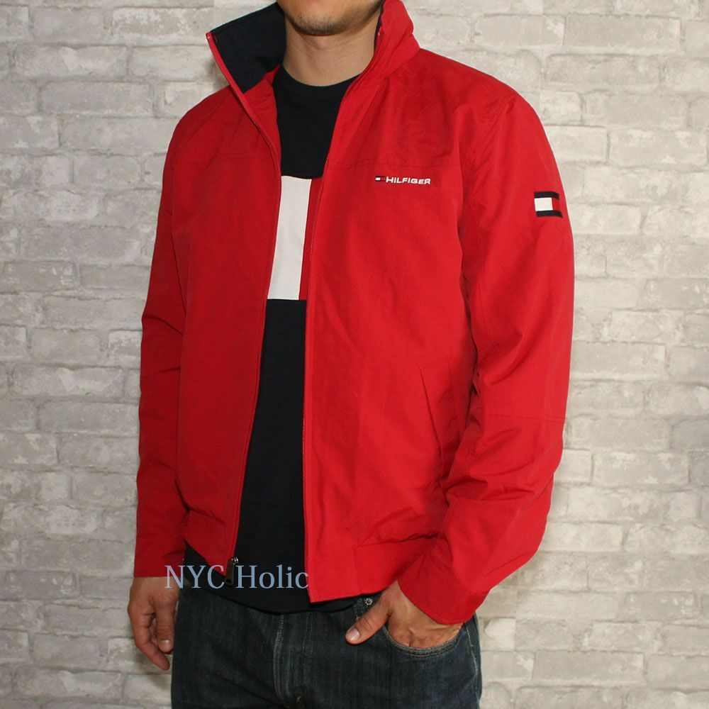39 new tommy hilfiger mens yacht jacket windbreaker all sizes water resistant nwt. Black Bedroom Furniture Sets. Home Design Ideas