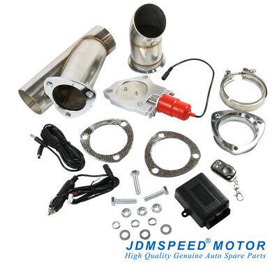JDMSPEED 3'' Electric Exhaust Muffler Valve Cutout System Dump Wireless Remote