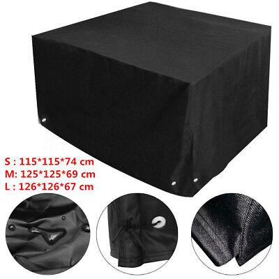 Black Waterproof Heavy Duty Furniture Cover Rattan Cube Rain Dust Outdoor  ()