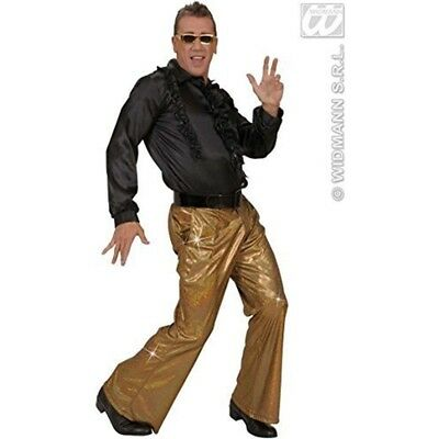 Holographic Sequin Pants - Gold Accessory For Fancy Dress - 70s Disco Trousers (Sequin Disco Pants)