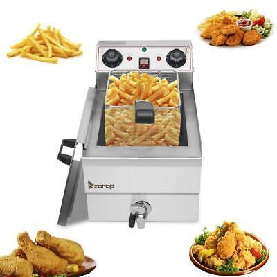 Zokop 1700w Electric Deep Fryer 12.5qt Commercial Tabletop Restaurant Fry Basket