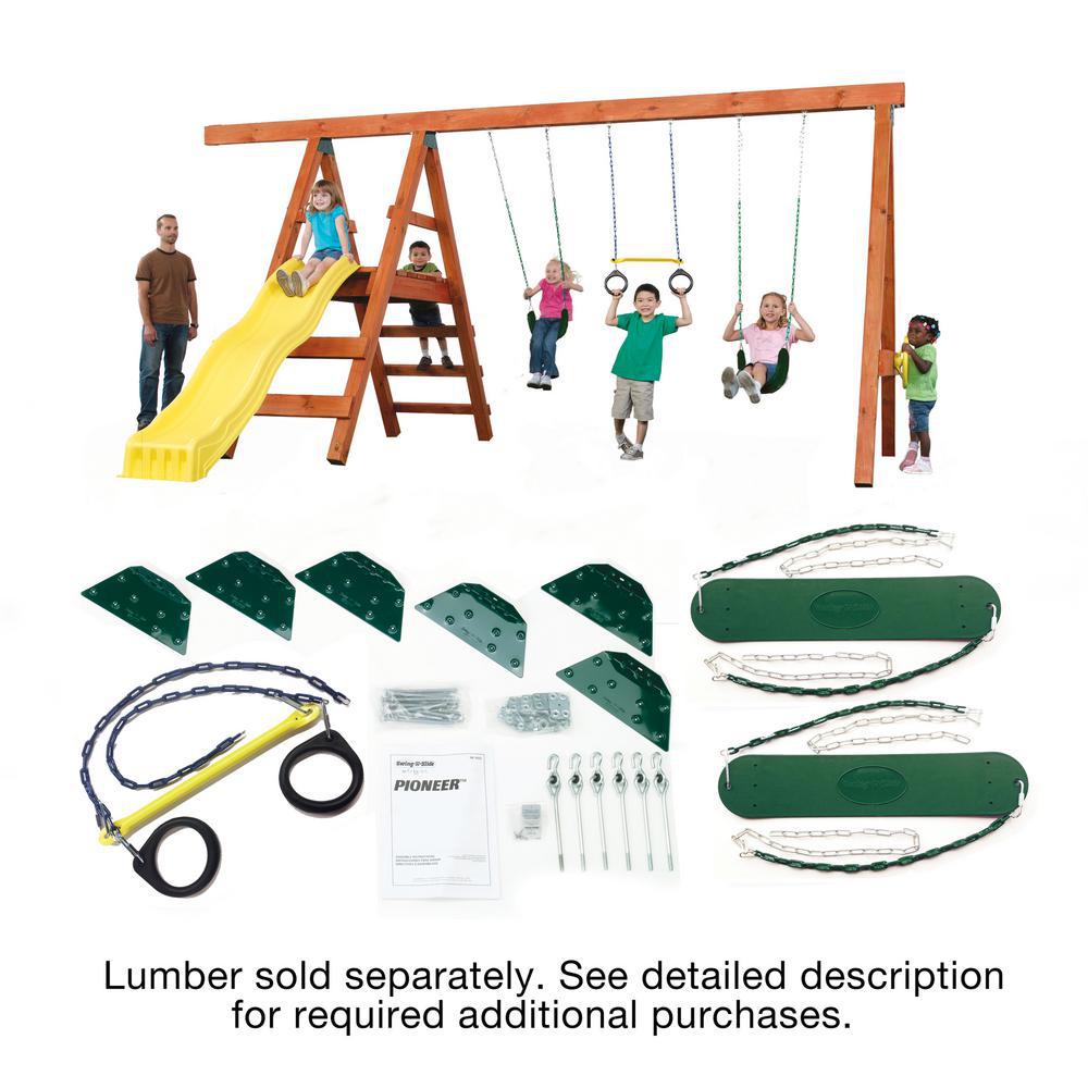 Playground Kit Outdoor Backyard Play Set Swing Seat Hanger R