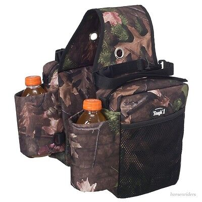 Western Saddle Bags- Gear Carrier -Bottle Holder-Denier Nylon-Tough Timber Print for sale  Shipping to India