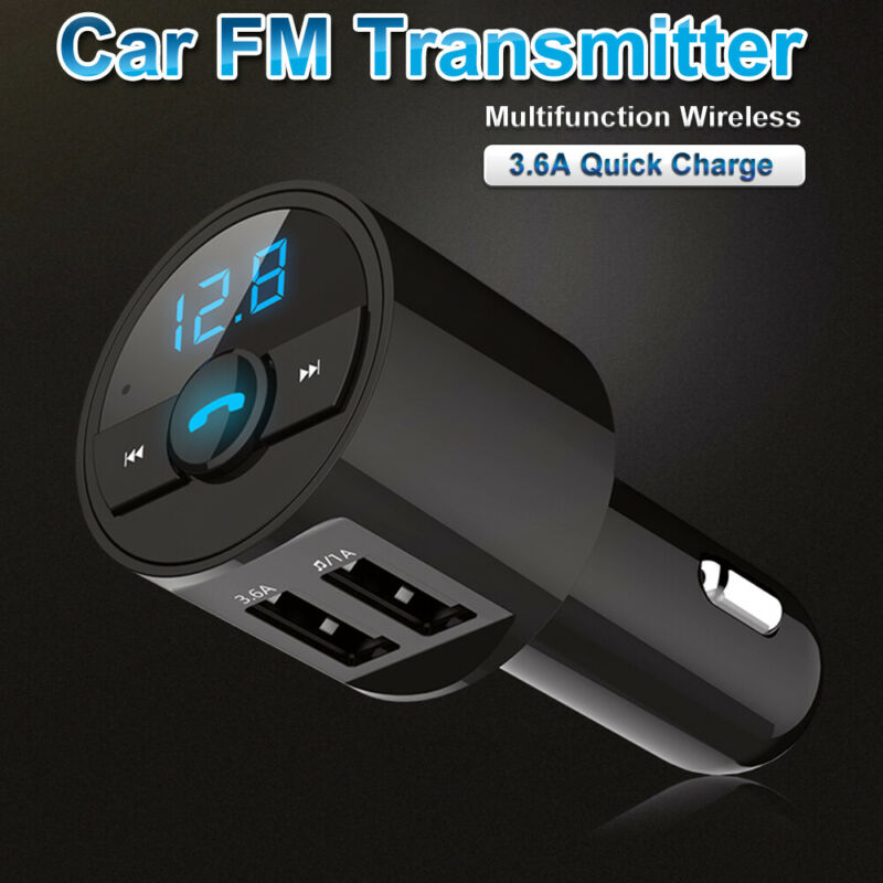 3.6A Wireless Bluetooth Car Dual USB Charger FM Transmitter Radio Adapter MP3 US