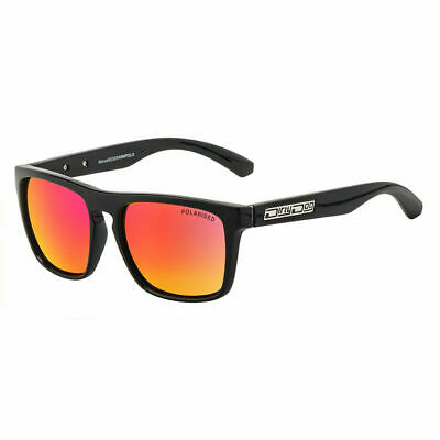 DIRTY DOG MONZA 53325 POLARISED SUNGLASSES  BLACK / RED FUSION MIRROR