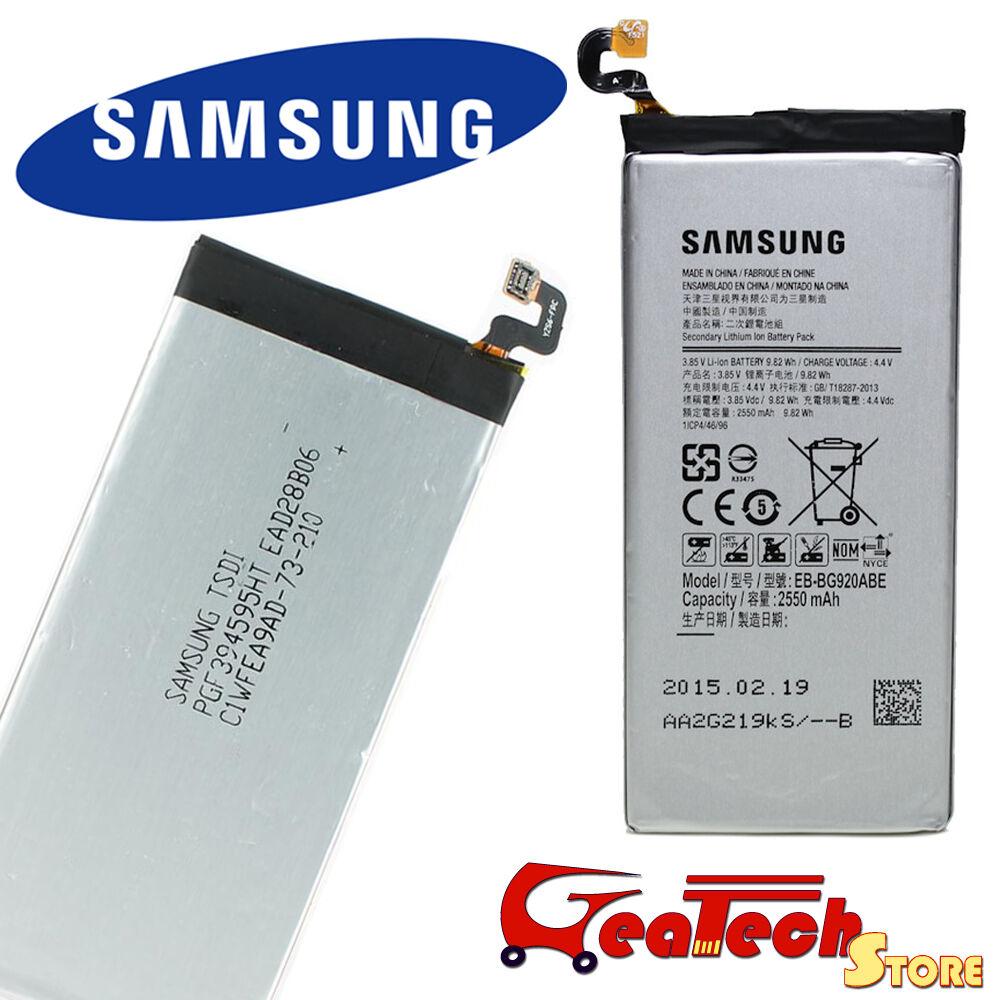 Batteria Originale EB-BG920ABE Per Samsung Galaxy S6 G920F 2550mah 4.4v Nuova