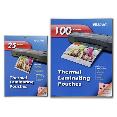 Nuova 5 Mil Thermal Laminating Pouches 9 X 11.5 Inches 5 X 7-inches Bundle