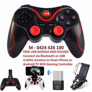 USB / Bluetooth Gamepad For Android tv Box smart phone holder PC Noble Park Greater Dandenong Preview