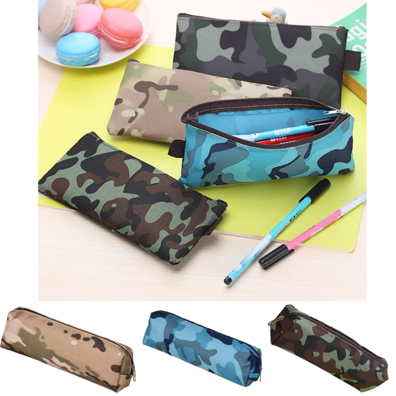 HOT Boys Girls Camouflage School Supplies Pouch Purse Pencil