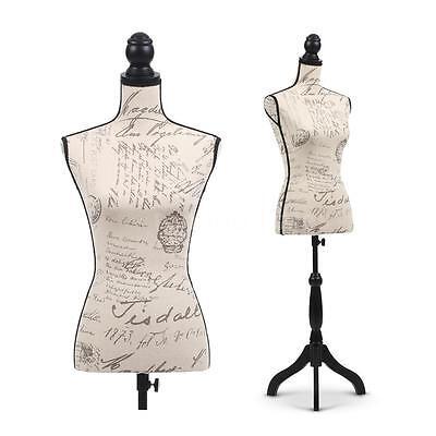 Female Mannequin Torso Dress Form Display W/ Wood Tripod Stand Designer A5N5