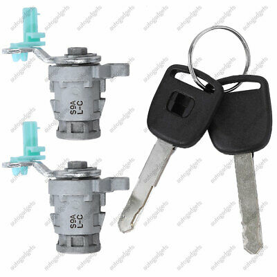 Door Lock Cylinder Front Set Kit With Keys For Honda Accord Civic Odyssey S2000