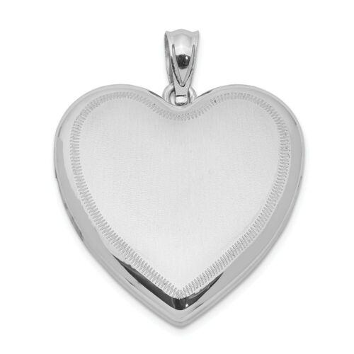 .925 Argent Sterling Poli Mini Diamond Cut Puff Heart Charm