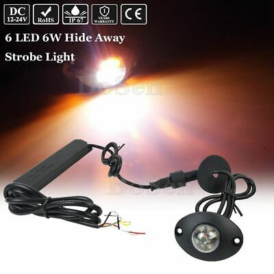 Hideaway Amber White 6w Led Emergency Patrol Truck Vehicle Warning Strobe Light