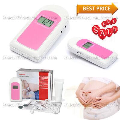 Pink-fetal Doppler Backlight Lcd Baby Heart Monitor 2.5mhz Probece Fda