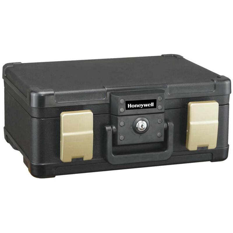 Honeywell Portable Chest Carry Handle Double Latch Lock Fire/Water Protection