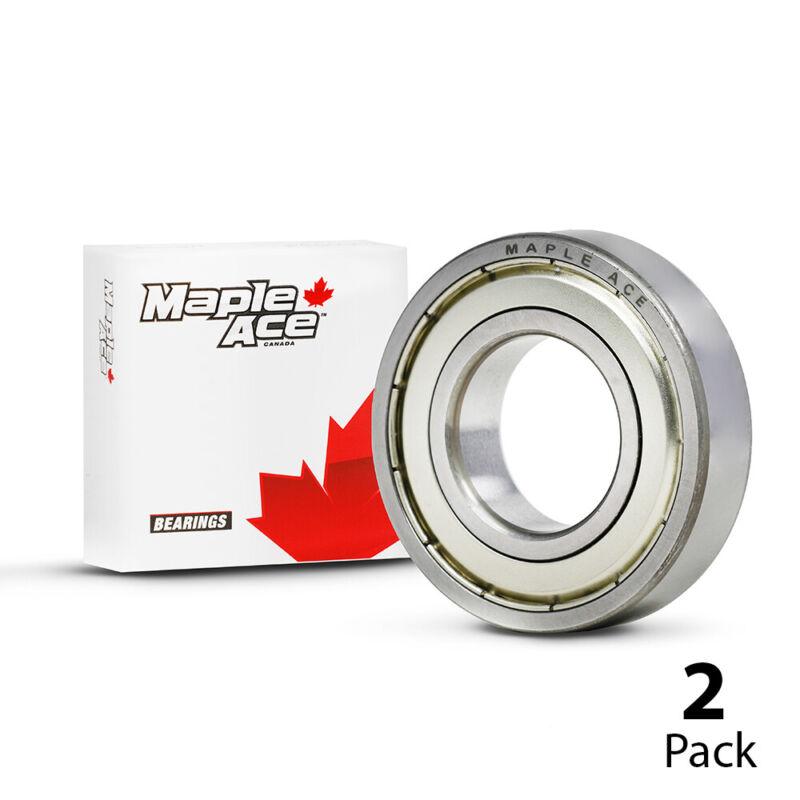 6201-ZZ Ball Bearing Premium Metal Shielded 12x32x10 mm, 6201 ZZ (Qty 2)
