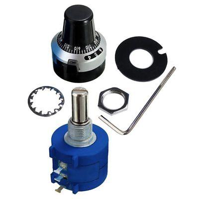 3590s-2-502l 5k Resistor Ohm Rotary Wire Wound Precision Potentiometer Pot Y8q0