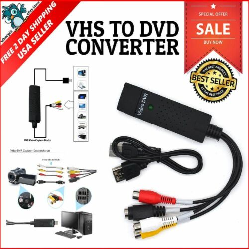 The VHS to DVD Coverter USB 2.0 Video Audio Capture Card VHS