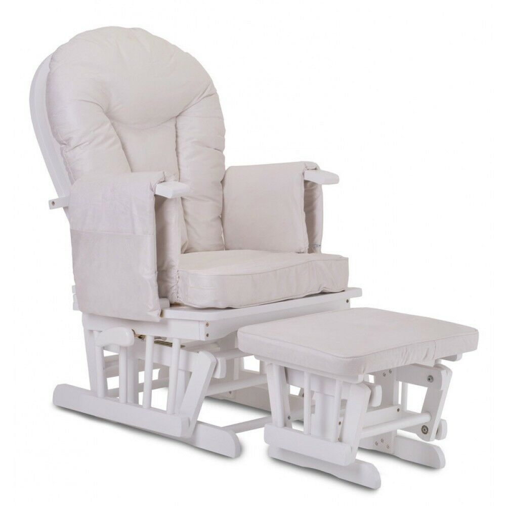Breastfeeding nursing rocking chair and foot stool